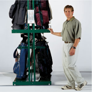 Storage rack for golf clubs